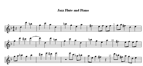flute part for print or practice